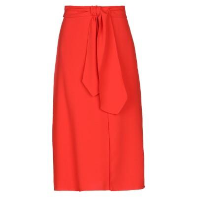 ELISABETTA FRANCHI 7分丈スカート レッド 42 ポリエステル 100% 7分丈スカート