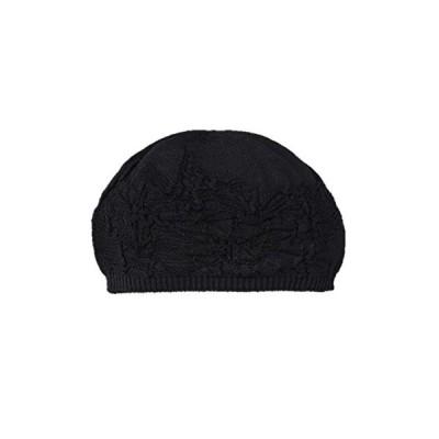 シルク100%ニットワッチ帽子 (ブラック)