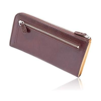 ベルト専門店のベルトン Belton 長財布 メンズ レディース 最高級イタリアンレザーを使用した ラウンドファスナー 財布 (ダークブラウン)