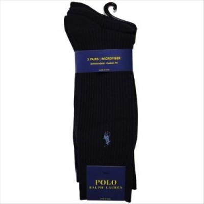 POLO RALPH LAUREN ソックス 8080PK 3足セット color401 ネイビーブルー ポロラルフローレン 靴下 ストライプ ハイソックス 紺 メンズ