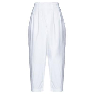 EVEN IF パンツ ホワイト 44 コットン 88% / リネン 11% / ナイロン 1% パンツ