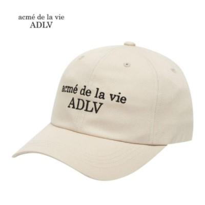 acmedelavie  ADLV アクメドラビACME DE LA VIE ベーシックロゴ ボールキャップ ベージュ 男女共用  送料無料