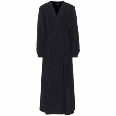 ジョゼフ Joseph レディース ワンピース ワンピース・ドレス Crepe wrap dress Black
