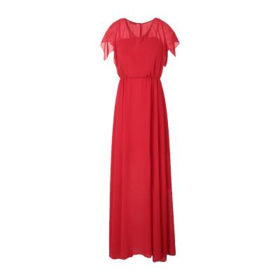 MARIELLA ROSATI ロングワンピース&ドレス レッド 44 ポリエステル 100% ロングワンピース&ドレス