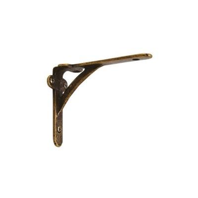 ゴーリキアイランド 620706 真鍮製棚受け スタンダードシリーズ 古色 100ミリ 真鍮 L型アングル ブラケット アンティーク レトロ 金物