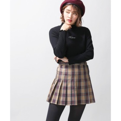 スカート WEGO/チェックプリーツミニスカート