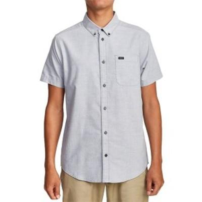 ルーカ メンズ シャツ トップス RVCA That'll Do Stretch Short-Sleeve Shirt Oxfurd Blue