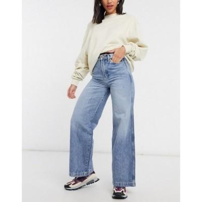 ラングラー レディース デニムパンツ ボトムス Wrangler high rise wide leg jeans in bleach wash