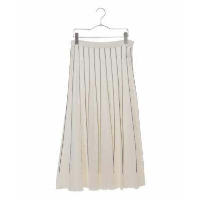 (HIROKO BIS/ヒロコビス)【洗える】プリーツニットスカート/レディース ホワイト
