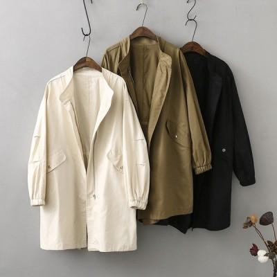 韓国風 トレンチコート レディース スプリングコート  アウター ジャケット 長袖 ゆったり 体型カバー お洒落 コーデ 上品 大人OL 通勤  春 コート