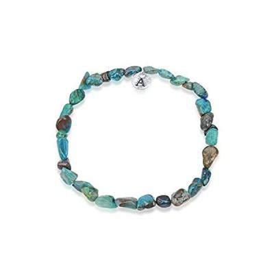 Adabele 1pc Natural Chrysocolla Gemstone Bracelet 7.5 inch Stretchy Chakra