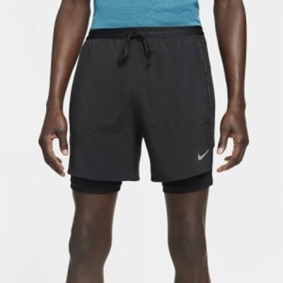 ナイキ メンズ ショーツ Nike Run Division Flex Strand Hybrid Shorts - Black/Reflective Silver