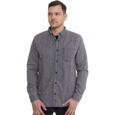 カーハート Carhartt WIP メンズ シャツ トップス - Civil Black Bleached - Shirt grey