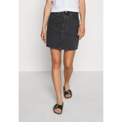 リーバイス スカート レディース ボトムス DECON ICONIC SKIRT - A-line skirt - black denim