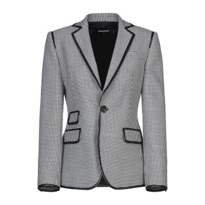 ディースクエアード DSQUARED2 テーラードジャケット ブラック 38 ウール 100% / 羊類革 テーラードジャケット