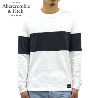 アバクロ ロンT メンズ 正規品 Abercrombie&Fitch 長袖Tシャツ クルーネックTシャツ LONG-SLEEVE CREW TEE 124-228-0418-100