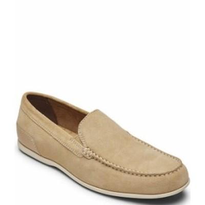 ロックポート メンズ スリッポン・ローファー シューズ Men's Malcom Suede Venetian Loafers Tan