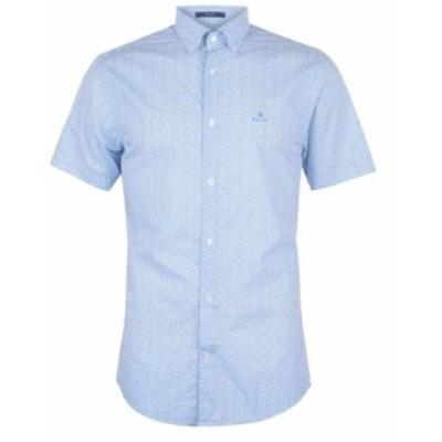 ガント Gant メンズ トップス Short Sleeve Printed Regular Fit White