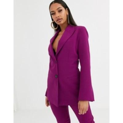 エイソス レディース ジャケット・ブルゾン アウター ASOS DESIGN pop suit blazer in purple Purple