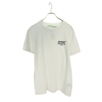 オフホワイト OFF-WHITE 17SS ロゴ刺繍Tシャツ SB01  中古