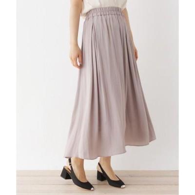 pink adobe / ピンクアドベ <WEB限定・LLサイズあり>サテンフレアロングスカート
