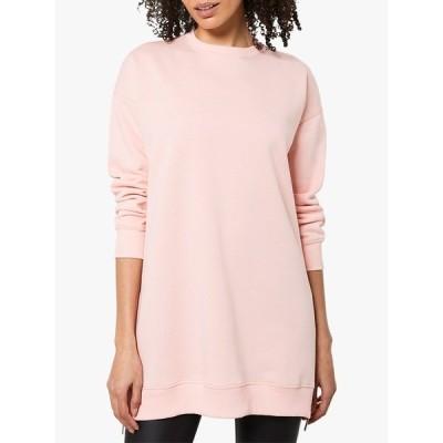 ミルトンベルベット シャツ レディース トップス Mint Velvet Longline Zip Sweatshirt, Coral