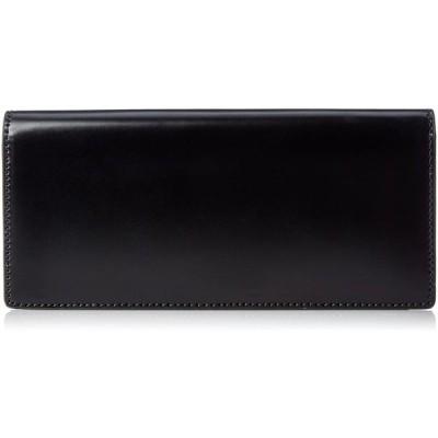[セパージュ] 財布 水染めコードバン 小銭入れ付 カード13枚収納 本革 紳士用 ブラック
