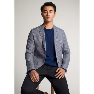 マッシモ ドゥッティ ジャケット&ブルゾン メンズ アウター MIT KAROMUSTER - Blazer jacket - light blue