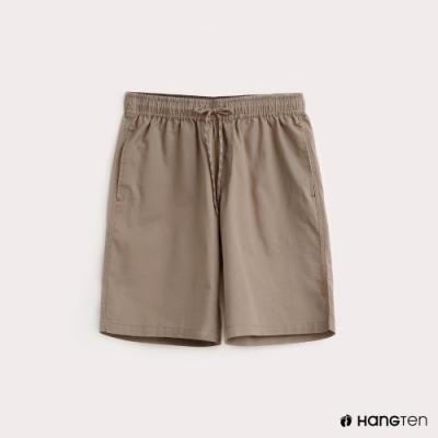 Hang Ten-男裝-抽繩綁帶百慕達褲-卡其