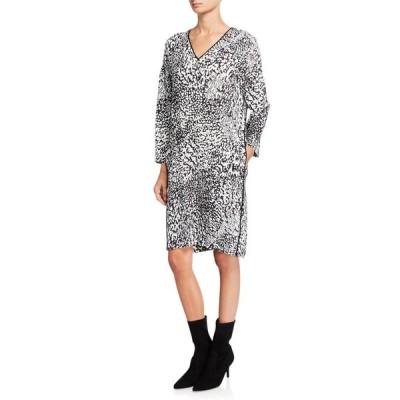 エスカーダ レディース ワンピース トップス Dixani Abstract Animal-Print Easy Dress