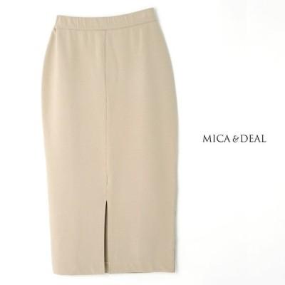 **MICA&DEAL〔マイカアンドディール〕M20A010washed front slit skirt/ウォッシュドコットンセンタースリットタイトスカート【☆】
