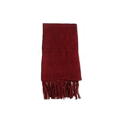 Alpakaandmore ユニセックス アルパカウール フリンジスカーフ 63x4.72 US サイズ: 63x4.72 カラー: レッド