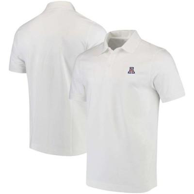 """メンズ ポロシャツ """"Arizona Wildcats"""" Cutter & Buck Collegiate Advantage DryTec Polo - White"""