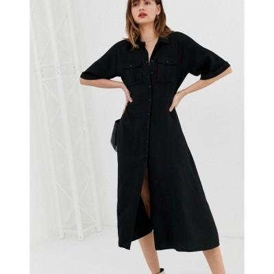 ホイッスルズ レディース ワンピース トップス Whistles Maria pocket longline dress Black
