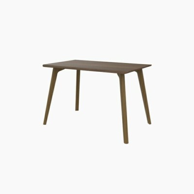 送料無料 ダイニングテーブル (W1100 天板:ウォールナット 脚:ホワイトオーク) - CROSS