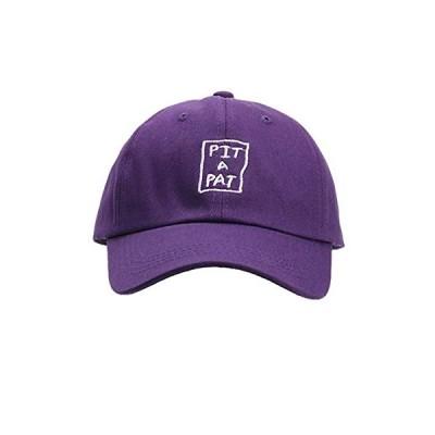 [ロプクス] LOPKS. キャップ 帽子 4色 男女兼用 刺繍 サイズ調節 可能 (パープル) 小さい 方にも マニッシュコーデ バイザー カーブバ