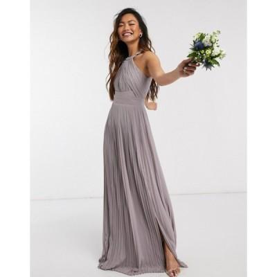 ティエフエヌシー レディース ワンピース トップス TFNC bridesmaid exclusive pleated maxi dress in gray