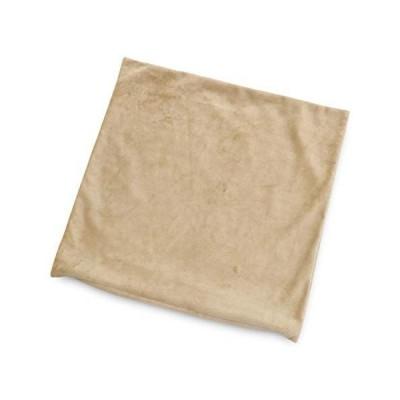 メール便 座ぶとんカバー 59×63 八端判 マイクロシールボア ベージュ 日本製