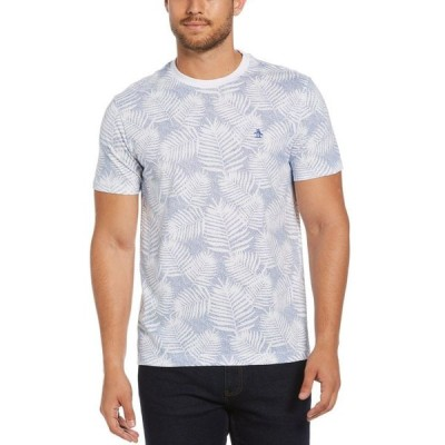 オリジナルペンギン メンズ Tシャツ トップス Men's Leaf Graphic T-Shirt