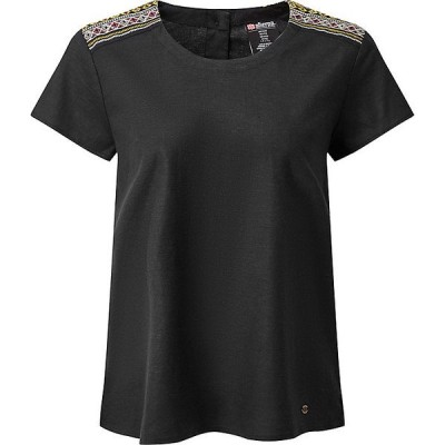 シャーパ カットソー レディース トップス Sherpa Women's Kiran Embroidery Top Black