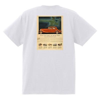 アドバタイジング ビュイック 362 白 Tシャツ 黒地へ変更可能  1933 1930年代 1940年代 1950年代 オールディーズ アメ車