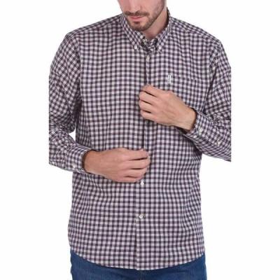バブアー BARBOUR メンズ シャツ トップス Thermo Tech Thornley Check Button-Down Shirt Red