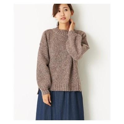 セーター ニット レディース ナチュラルな色感 カラー ネップ 冬  M/L ニッセン