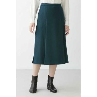 HUMAN WOMAN/ヒューマンウーマン ◆リサイクルポリエステルツイルスカート グリーン L