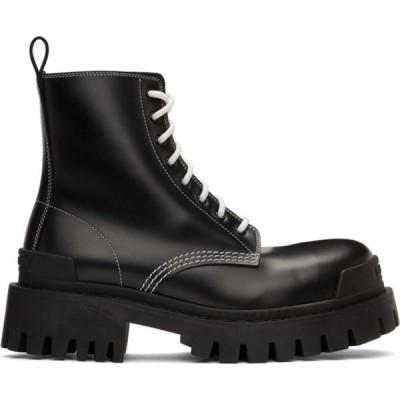 バレンシアガ Balenciaga レディース ブーツ シューズ・靴 Black & White Strike Boots Black