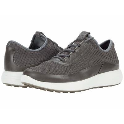 エコー スニーカー シューズ メンズ Soft 7 Runner Summer Sneaker Titanium/Titanium