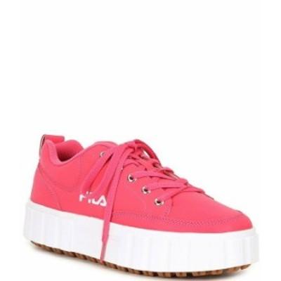 フィラ レディース スニーカー シューズ Women's Sandblast Low Lifestyle Lace-Up Sneakers Pink Glow/Pink Glow/White
