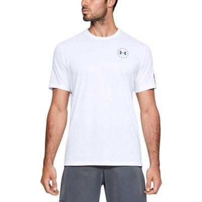アンダーアーマー Tシャツ トップス メンズ Men's Freedom Flag T-Shirt White, Blue, Red