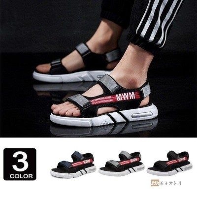厚底サンダル サンダル スポーツサンダル メンズ ストラップ 通気 厚底 アウトドア 夏物 靴 歩きやすい おしゃれ