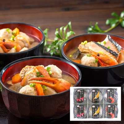 小樽海洋水産 小樽海鮮一人鍋セット 3種6個入 ギフト お取り寄せ 送料無料